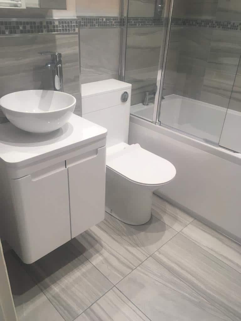 2 Bathroom re-model, including large shower area. Olney, between Milton Keynes and Bedford