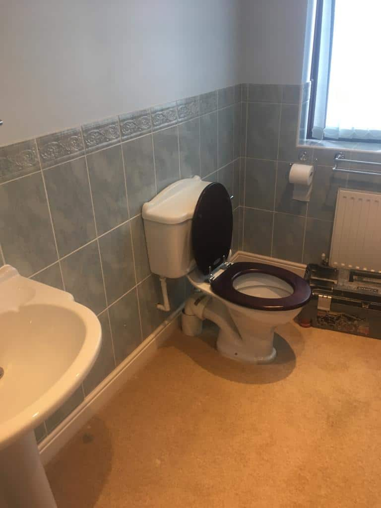 Bathroom redesign Milton Keynes before 1