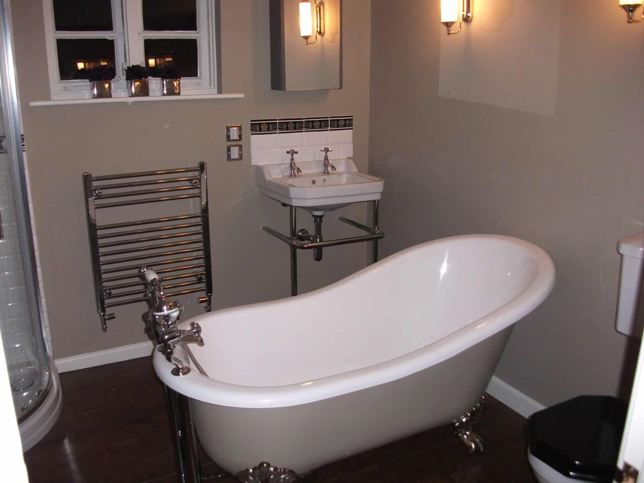 Bathroom redesign, slipper bath, Brampton near Huntingdon 1