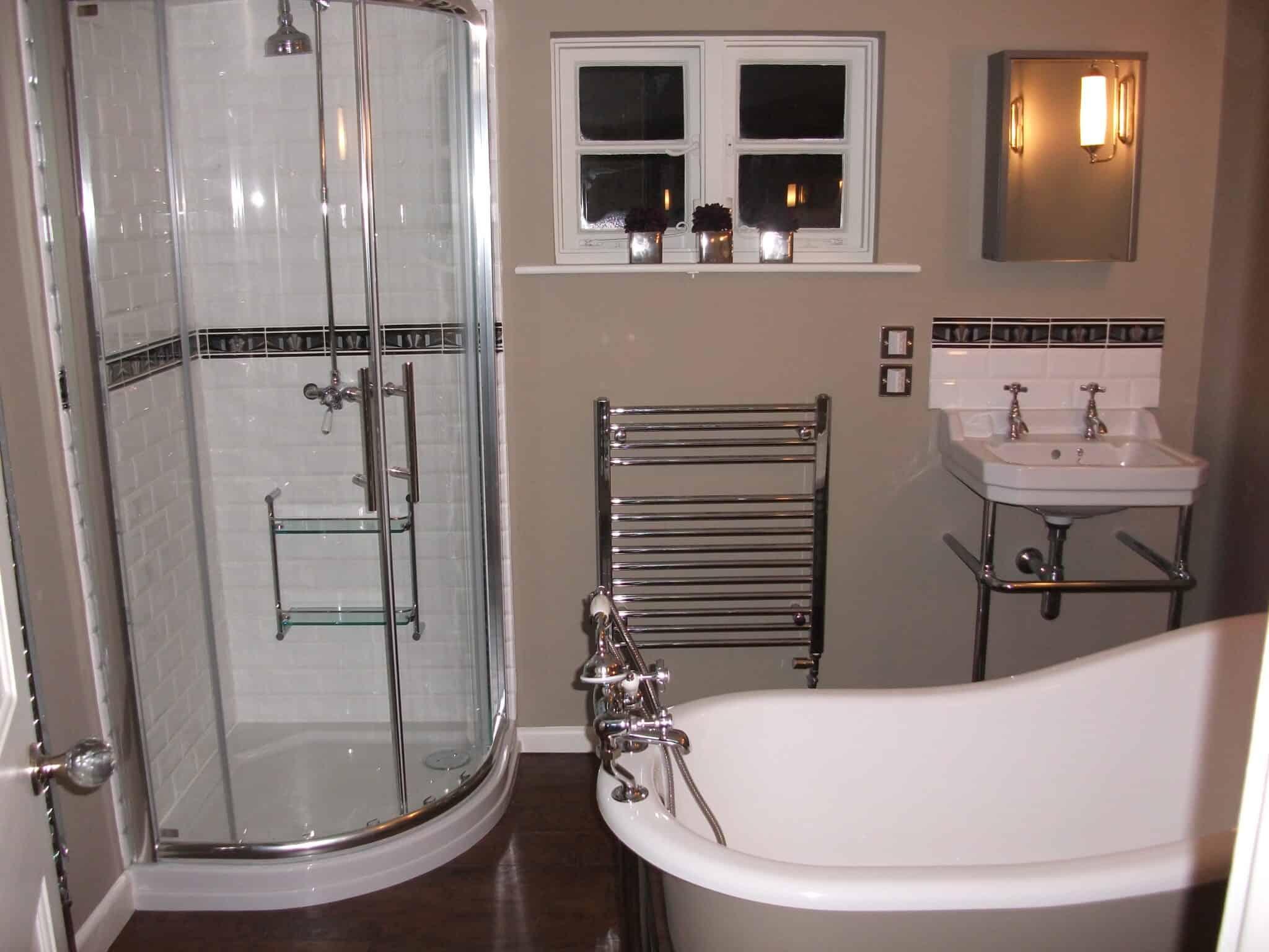 Bathroom redesign, slipper bath, Brampton near Huntingdon 2