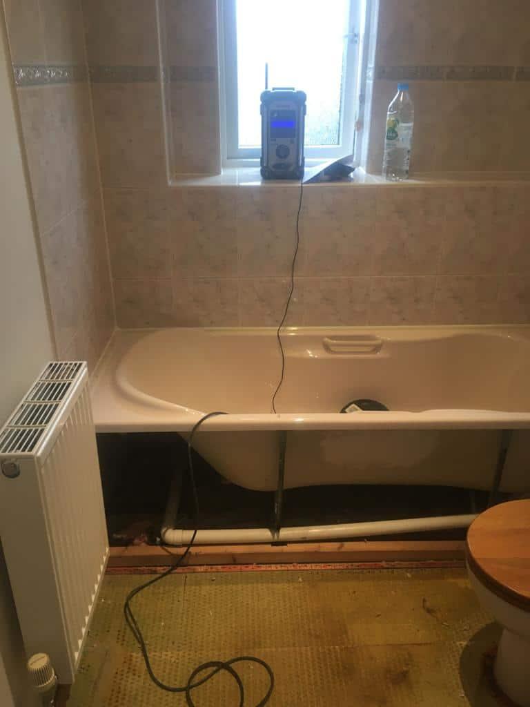 En suite remodel near Northampton before 2