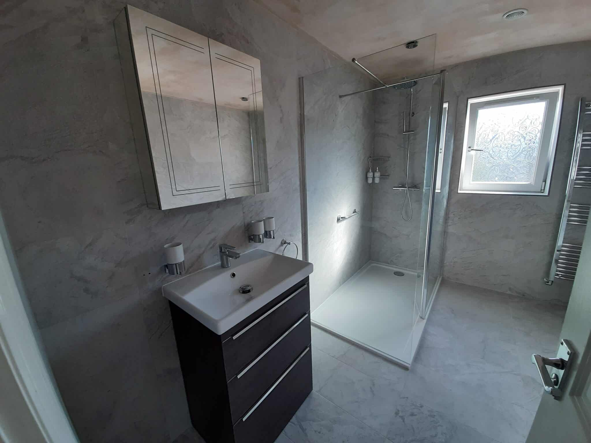 Moulton Northampton ensuite & small bathroom converted to large room 1