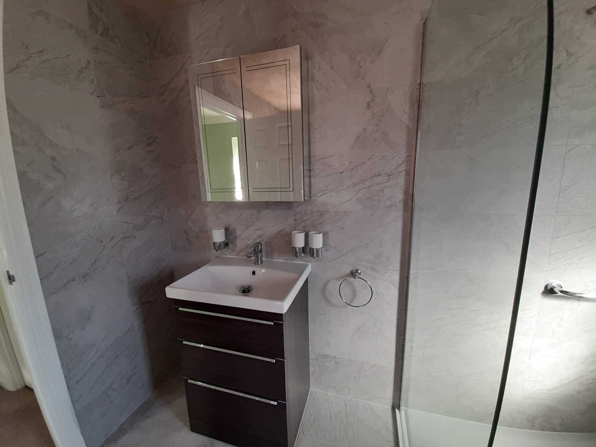 Moulton Northampton ensuite & small bathroom converted to large room 4