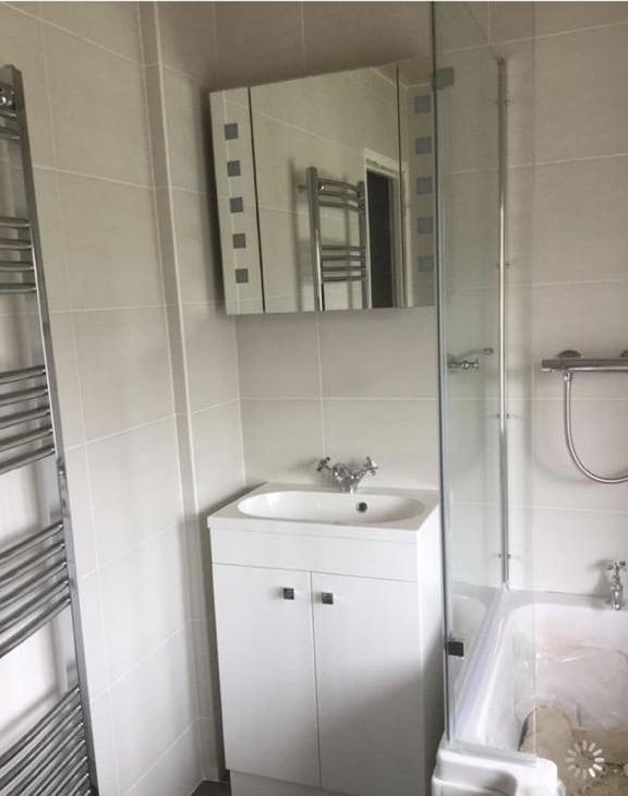 Seperate toilet and bathroom converted into large bathroom, between Bedford & Milton Keynes 1
