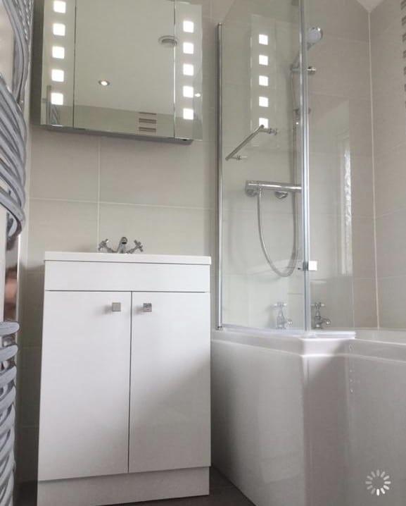 Seperate toilet and bathroom converted into large bathroom, between Bedford & Milton Keynes 4