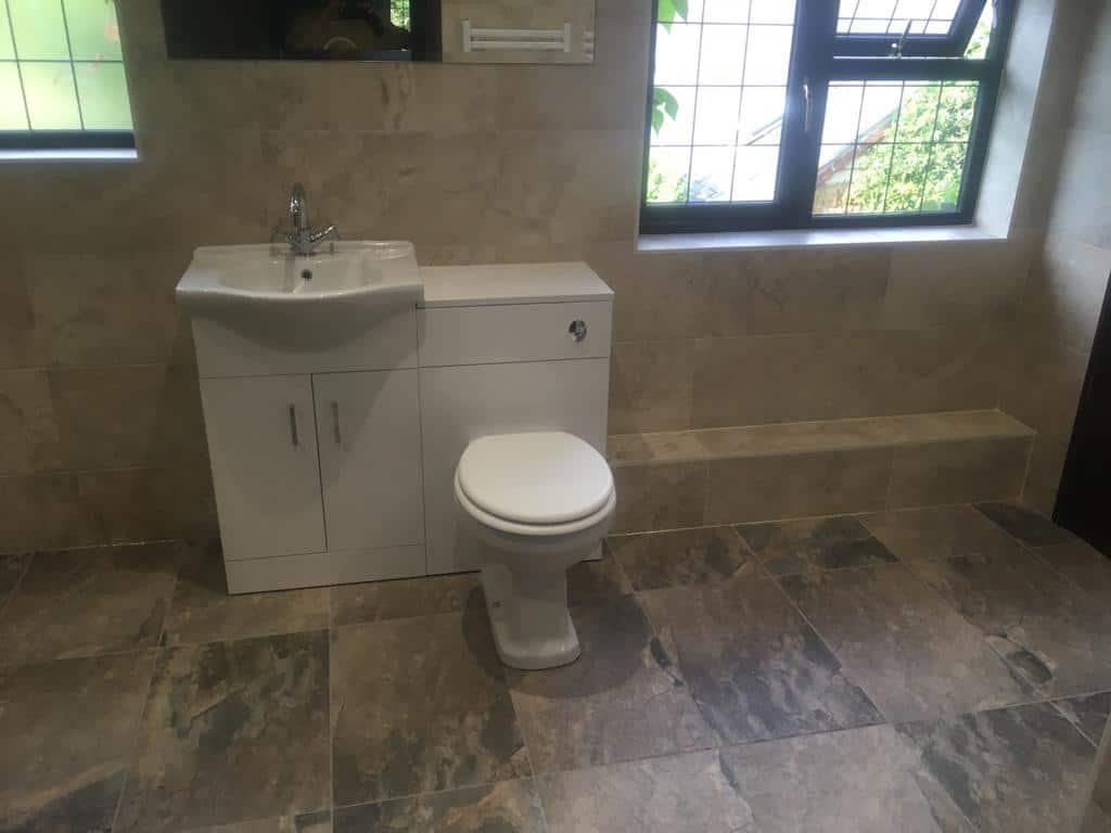 Wetroom bathroom re-design, Brixworth near Northampton after 3